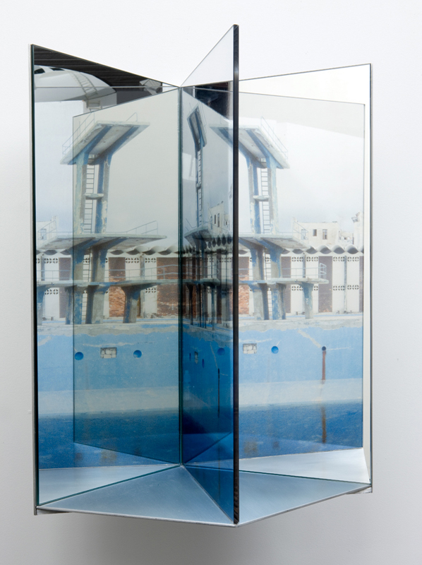 Deep End, 2008 20 x 14 x 10 inches aluminum, dura-clear prints, plexi-glass, glass mirror